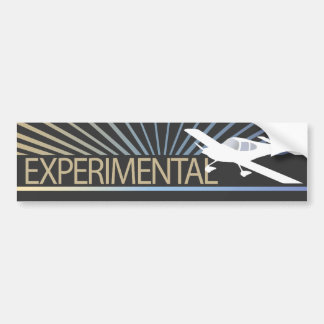 Low Wing Experimental Airplane Car Bumper Sticker