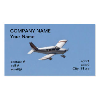 low wing light aircraft business card templates