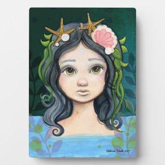 Lowbrow pop surrealism Mermaid Lagoon Painting Plaque