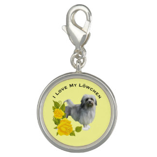 Lowchen and Yellow Roses Charm