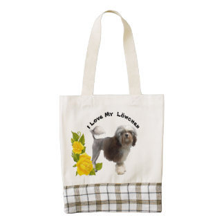 Lowchen and Yellow Roses Zazzle HEART Tote Bag