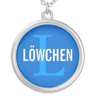 Löwchen Breed Monogram Design Silver Plated Necklace