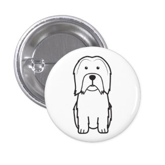 Lowchen Dog Cartoon Pin