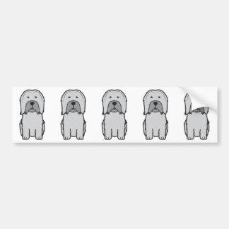 Lowchen Dog Cartoon Car Bumper Sticker