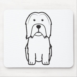 Lowchen Dog Cartoon Mouse Pad