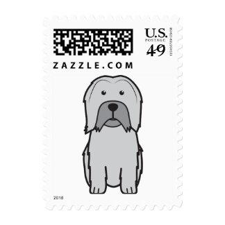 Lowchen Dog Cartoon Stamps