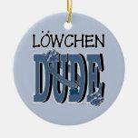 Lowchen DUDE Christmas Ornaments