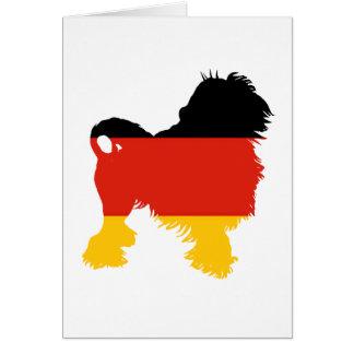 lowchen el silo de la Alemania-bandera Tarjeta De Felicitación