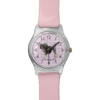 Lowchen on Pink Gingham Watch
