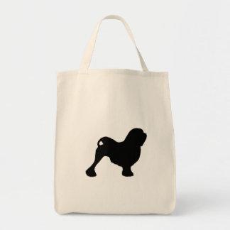 Lowchen Silhouette Tote Bag