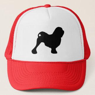 Lowchen Silhouette Trucker Hat