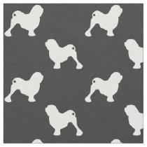 Lowchen Silhouettes Pattern Fabric