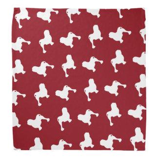 Lowchen Silhouettes Pattern Red Bandana