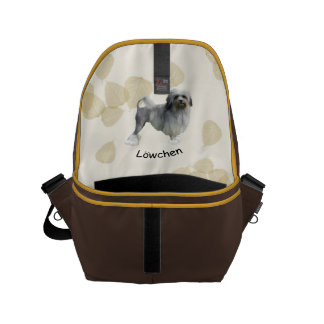 Lowchen with Tan Leaves Small Messenger Bag