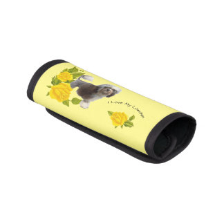 Lowchen with Yellow Roses Luggage Handle Wrap