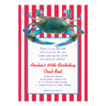Lowcountry Blue Crab Boil Stripes- Red or Navy Cards