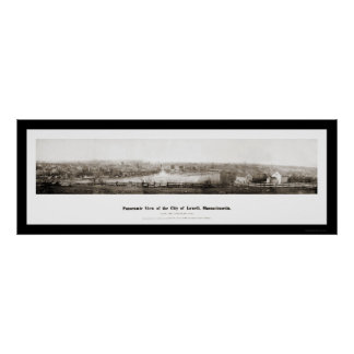 Lowell MA Panorama Photo 1874 Poster