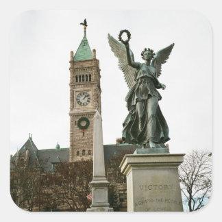 LOWELL MASSACHUSETTS CITY HALL STICKER