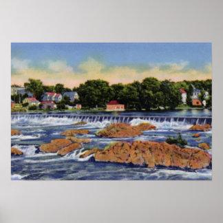Lowell Massachusetts Pawtucketville Dam and Falls Poster