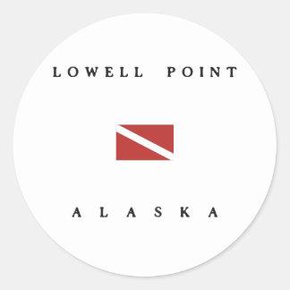 Lowell Point Alaska Scuba Dive Flag Classic Round Sticker