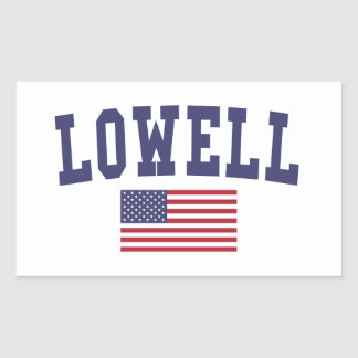 Lowell US Flag Rectangular Sticker