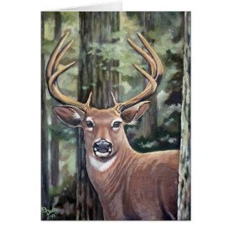 Lowell's Deer Card