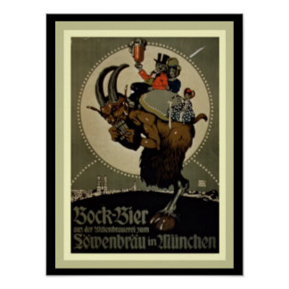 Lowenbrau Bock Beer Ad Poster  12 x 16