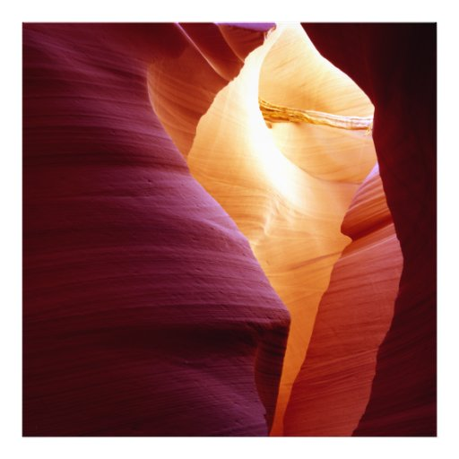 Lower Antelope Canyon With Wood Photo Print