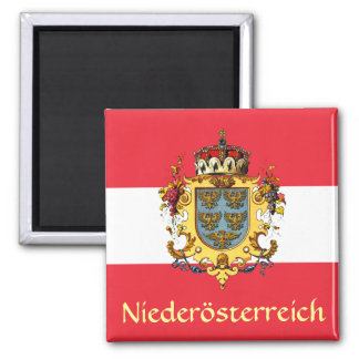 Lower Austria Coat of Arms 2 Inch Square Magnet