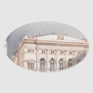 Lower Austrian country house in Vienna Oval Sticker