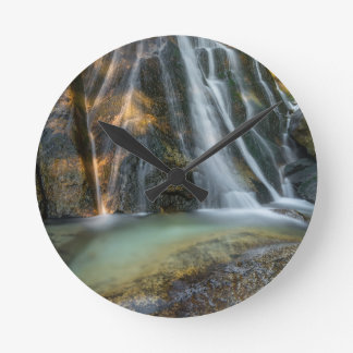 Lower Bell's Canyon Waterfall Round Clock