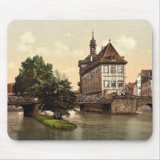 Lower bridge and rathhaus, Bamberg, Bavaria, Germa Mousepads