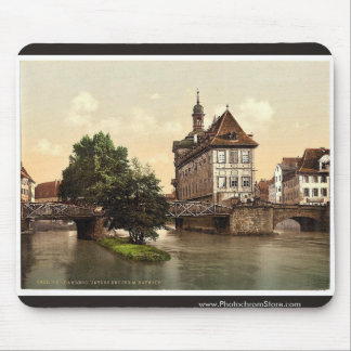 Lower bridge and rathhaus, Bamberg, Bavaria, Germa Mousepad