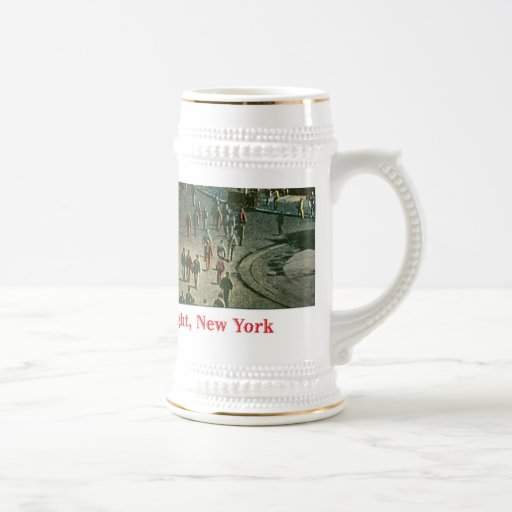Lower Broadway by Night Beer Stein