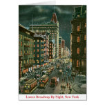 Lower Broadway by Night Cards