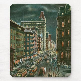 Lower Broadway by Night Mousepad