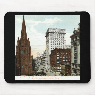 Lower Broadway NY 1897 Vintage Mouse Pad