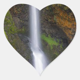 Lower Butte Creek Falls in Fall Season Heart Sticker