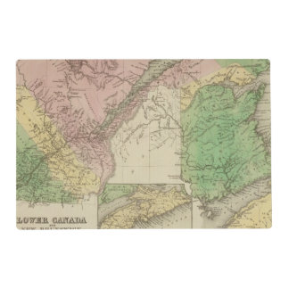 Lower Canada and New Brunswick Placemat
