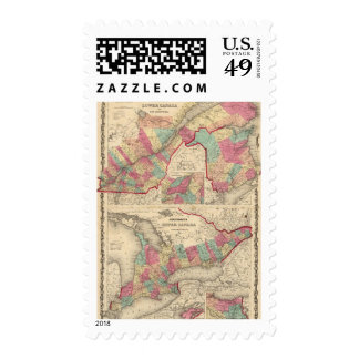 Lower Canada and New Brunswick Upper Canada Postage Stamp