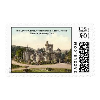 Lower Castle, Cassel, Hesse-Nassau, Germany 1905 Postage