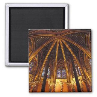 Lower chapel of La Sainte-Chapelle, Paris, 2 Inch Square Magnet
