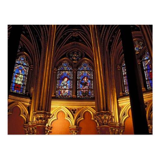 Lower chapel of La Sainte-Chapelle, Paris, 2 Postcards