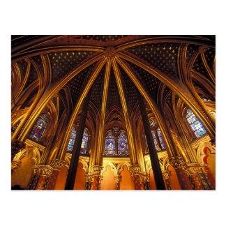 Lower chapel of La Sainte-Chapelle, Paris, Postcard