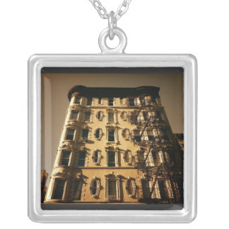Lower East Side Building Square Pendant Necklace