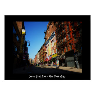 Lower East Side - New York City Poster