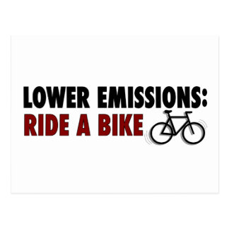Lower Emissions Ride A Bike Postcard