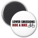 Lower Emissions Ride A Bike Refrigerator Magnet