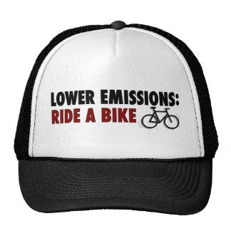 Lower Emissions Ride A Bike Trucker Hat