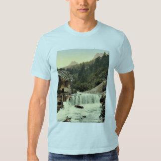 Lower Engadine, Tarasp, waterfall, Grisons, Switze Shirt